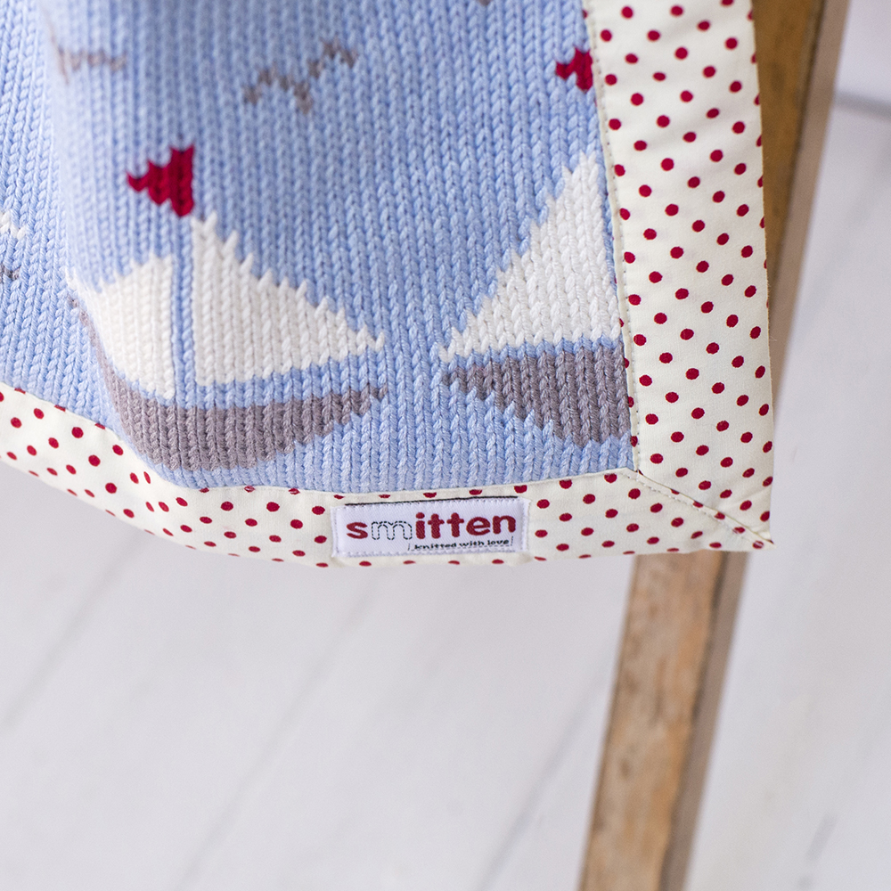 Boats Patchwork Knitted Blanket