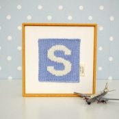 Knitted initial
