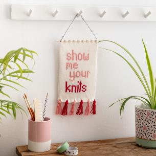 show me your knits wall hanging